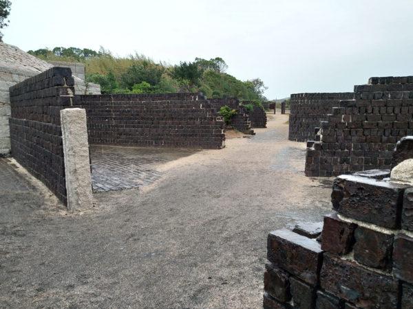犬島精練所美術館の壁
