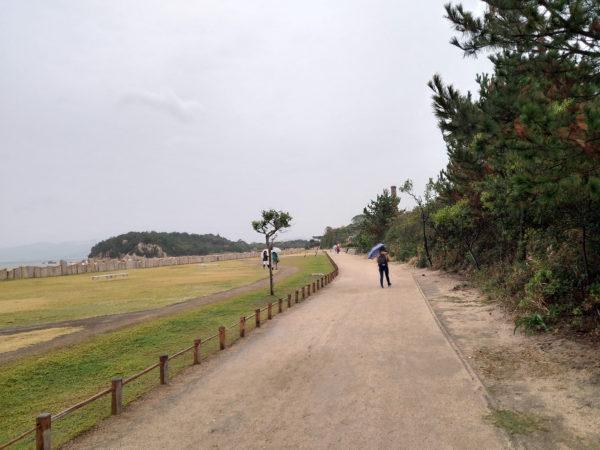 犬島精練所美術館への道